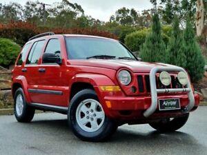 2007 Jeep Cherokee KJ MY2006 Sport Red 5 Speed Automatic Wagon Littlehampton Mount Barker Area Preview