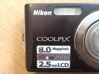 Pristine Nikon Coolpix 8MP Digital Camera with 1GB SD card and 3x Optical Zoom, must collect