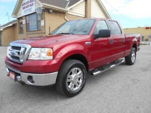 2008 FORD F-150 XLT XTR Crew Cab 4X4 6.5Ft Box 4.6L ONLY 137KMs