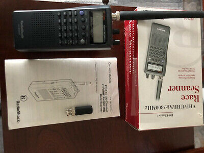 RADIO SHACK PRO-74 100 Channel VHF/UHF/Air/800 MHz Race Scanner