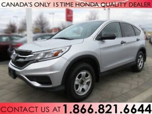 2016 Honda CR-V LX | HONDA CERTIFIED | 1 OWNER | NO ACCIDENTS
