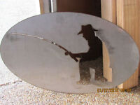 Stainless steel fisherman sign