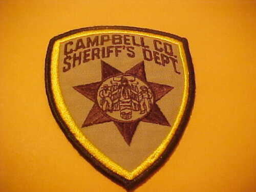 CAMPBELL COUNTY WYOMING POLICE PATCH SHOULDER SIZE NEW