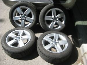 4 mags 16  VW Jetta + Pneus 205/55R16 low profile neuf