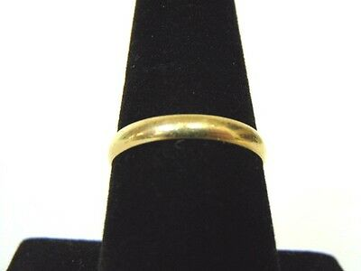 Vintage Estate 10K Yellow Gold Band Wedding Ring 1 7G  E2020