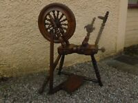 antique welsh spinning wheel