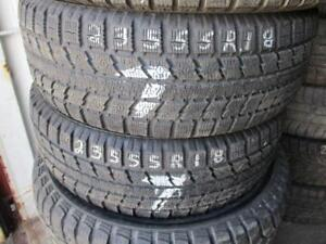 235/55 R18 TOYO OBSERVE WINTER TIRES USED SNOW TIRES (SET OF 2) - APPROX. 70% TREAD