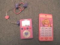 Build a Bear MP3 Player and Mobile Phone with Bag