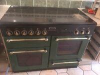 Range Cooker (Leisure RangeMaster) Gas/Electric Racing Green with Glass Hood