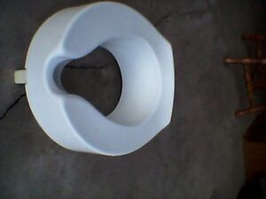 RAISED 4 INCH TOILET SEAT