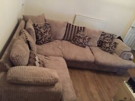 DFS Brown Right Hand Corner Sofa