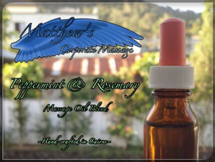 Hand-crafted Peppermint & Rosemary Massage Oil Blend Edge Hill Cairns City Preview