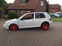 Show car Golf GTI VW Golf MK4 Air Ride Dubbed Slammed Custom Recaro Modified 3SDM Wheel Bora Bolf