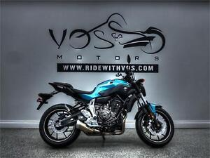 2017 Yamaha FZ-07 -Stock #V2469NP -No Payments For 1 Year**
