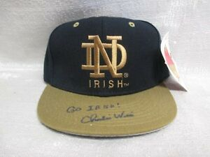 Charlie-Weis-Signed-Notre-Dame-Fighting-Irish-New-Era-Kmg-Model-Cap-Hat-JSA