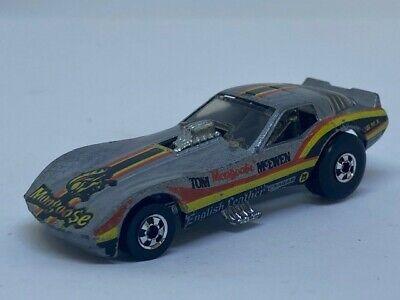 Vintage 1977 Hot Wheels Mongoose Corvette Funny Car Tom McEwen- 1977 Hong Kong