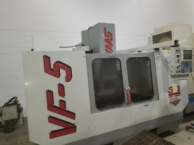 Used Haas Vf-5 50 Taper Cnc Vertical Machining Center Mill 50x26 Vmc 30hp 1998