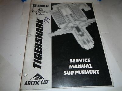 OEM TIGERSHARK 1999 TS1100 Li SERVICE MANUAL SUPPLEMENT 2256-137