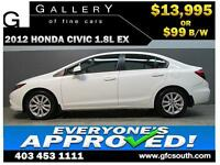 2012 HONDA CIVIC EX *EVERYONE APPROVED* $0 DOWN $99/BW!