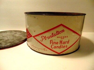 Vintage Plantation Chocalate Co., Phila. hard candy tin ](Hard Candy Company)