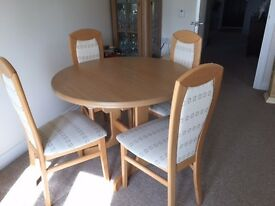 Dining room furniture - Table +4 chairs + Display cabinet
