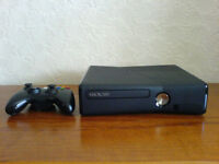 XBOX 360 SLIM WITH 320 GB HARD DRIVE AND 3 GAMES
