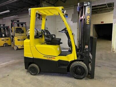 2015 Hyster S60ft 6000lbs Used Forklift W Triple Mast Lp Gas Sideshift