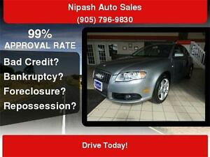 2008 Audi A4 S-LINE 2.0 Turbo ,QUATTRO, FULLY LOADED,CERTIFY,