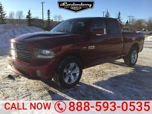 2013 Ram 1500 4WD QUADCAB SPORT Navigation (GPS),  Leather,  Sun