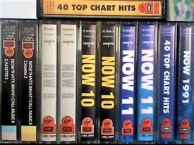NOW THAT'S WHAT I CALL MUSIC ; NOW 2, 9, 10, 11, 28 & NOW 1991 PRERECORDED CASSETTE TAPES 2 TAPES £1