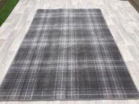 Grey Tartan rug