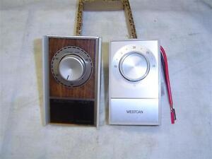 2 Wall mounted heater thermostats