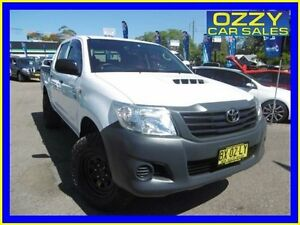 2013 Toyota Hilux KUN26R MY12 Workmate (4x4) White 5 Speed Manual Dual Cab Pick-up Penrith Penrith Area Preview
