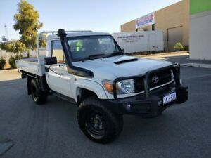 2010 Toyota Landcruiser VDJ79R 09 Upgrade Workmate (4x4) White 5 Speed Manual Cab Chassis Malaga Swan Area Preview