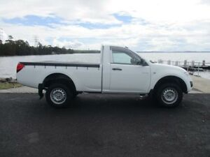 2010 Mitsubishi Triton MN MY11 GLX White 4 Speed Automatic Utility Horsley Wollongong Area Preview