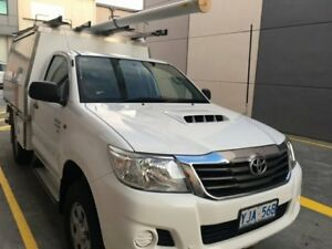 2012 Toyota Hilux KUN26R SR Cab Chassis Extended Cab 2dr Man 5sp 4x4 3.0DT White Manual Cab Chassis