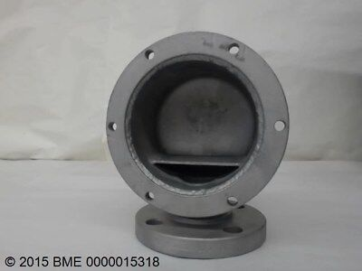 Flanged Stainless Steel Fitting 1-12 Bore With 4 Bolt Flange