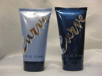 Curve Gel Body Lotion - CURVE by LIZ CLAIBORNE BODY LOTION + SHOWER GEL FOR WOMEN 2.5 OZ EACH ~ NEW