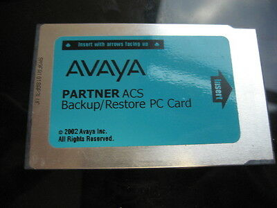 Avaya Partner Acs Back Up Restore Card