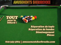 Déménagement de table de billard