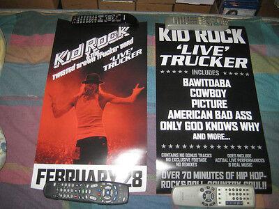 KID ROCK-(live trucker)-1 POSTER-2 SIDED-12X24-MINT-RARE
