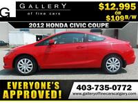 2012 Honda Civic EXCoupe $109 bi-weekly APPLY NOW DRIVE NOW