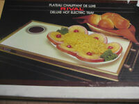 Rival deluxe hot electric tray model 1428. Made in USA. ~11x20 i