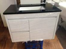 750mm Wall Hung Vanity & Black Stone Top Soft Close 2pac Bathroom Woy Woy Gosford Area Preview