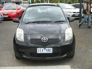 2008 Toyota Yaris NCP90R YR Black 5 Speed Manual Hatchback Hoppers Crossing Wyndham Area Preview