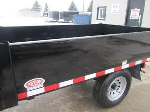 Single axle dump trailer - Comes loaded w/tarp kit and tool box London Ontario image 5
