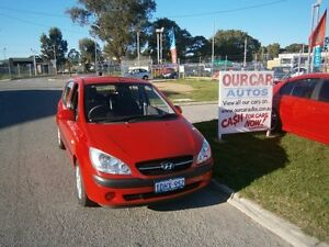 2010 Hyundai Getz 5 DOOR 12MTH WTY $6999 Red Automatic Hatchback Maddington Gosnells Area Preview