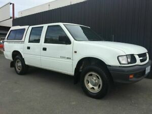 2000 Holden Rodeo TFR9 LX White 5 Speed Manual Crew Cab Pickup