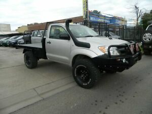 2005 Toyota Hilux KUN26R SR (4x4) Silver 5 Speed Manual Cab Chassis Williamstown North Hobsons Bay Area Preview