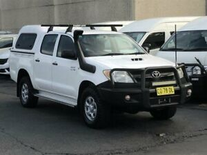 2008 Toyota Hilux KUN26R 08 Upgrade SR (4x4) White 5 Speed Manual Dual Cab Pick-up Revesby Bankstown Area Preview